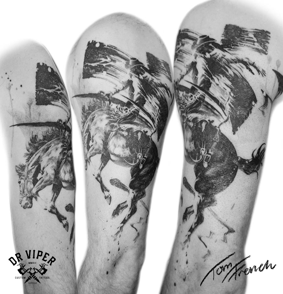 Dr viper cowboy tattoo 2