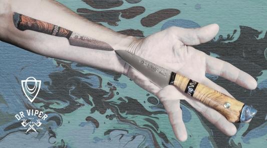 Dr Viper Will Ferraby knife tattoo