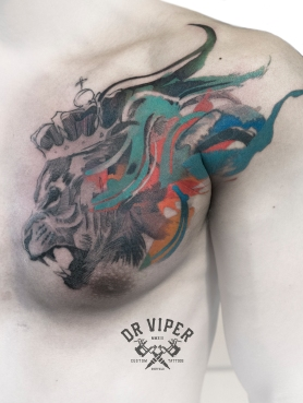 Dr Viper Lion Tattoo